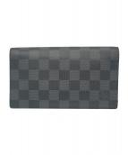 LOUIS VUITTON(ルイ ヴィトン)の古着「長財布」 ブラック×グレー