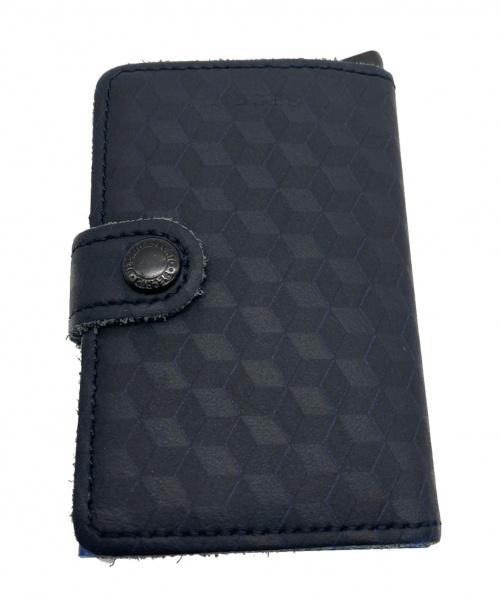 SECRID(セクリッド)SECRID (セクリッド) カードケース ブラック×ブルーの古着・服飾アイテム