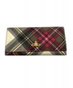 ()の古着「2つ折り財布」|ピンク×グレー
