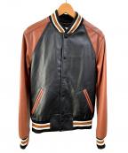 COACH(コーチ)の古着「スタジャン」|ブラウン×ブラック