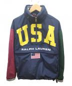 POLO RALPH LAUREN(ポロ・ラルフローレン)の古着「ナイロンジャケット」 ネイビー