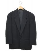 LQ Ys for men(エルキュー ワイズフォーメン)の古着「オーバーサイズカシミヤ混ジャケット」|ブラック