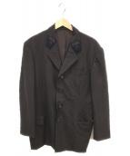 YS for men(ワイズフォーメン)の古着「刺繍テーラードジャケット」|ブラウン