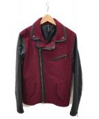 glamb(グラム)の古着「切替ライダースジャケット」|レッド×ブラック
