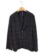 ernesto(エルネスト)の古着「テーラードジャケット」|ネイビー×ブラウン