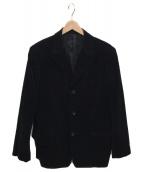 YS for men(ワイズフォーメン)の古着「ベロアテーラードジャケット」|ブラック