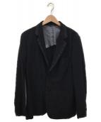 COMME des GARCONS HOMME DEUX(コムデギャルソン オム ドゥ)の古着「ラベルテーラードジャケット」|ブラック