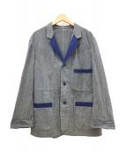 Y's for men(ワイズフォーメン)の古着「切替デザインジャケット」|グレー×ブルー