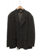 YohjiYamamoto pour homme(ヨウジヤマモトプールオム)の古着「レザーパッチワークジャケット」|カーキ