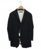 KLASICA()の古着「リネン混コート」|ブラック