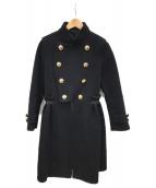 sacai(サカイ)の古着「スタンドカラーデザインコート」|ブラック