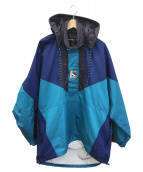 BALENCIAGA(バレンシアガ)の古着「ダブルヘムウィンドブレーカー」|ライトブルー×ネイビー