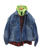 BALENCIAGA(バレンシアガ)の古着「ツインセットパッドジャケット」|インディゴ