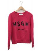 MSGM(エムエスジーエム)の古着「裏起毛プリントスウェット」 ピンク