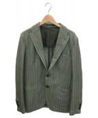 TAGLIATORE(タリアトーレ)の古着「テーラードジャケット」|グリーン×ホワイト