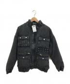 X-girl(エックスガール)の古着「デニムジャケット」|ブラック