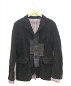 COMME des GARCONS(コムデギャルソン)の古着「パッチワークコーデュロイジャケット」 ブラック
