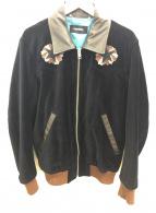DIESEL(ディーゼル)の古着「刺繍ベロアジャケット」 ブラック×ブラウン