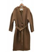 Johnbull(ジョンブル)の古着「ベルト付ロングコート」|ベージュ