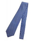 HERMES(エルメス)の古着「総柄ネクタイ」|ブルー