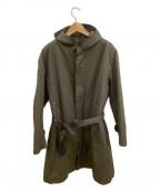 STILL BY HAND(スティルバイハンド)の古着「フーデッドシンサレートコート」 カーキ