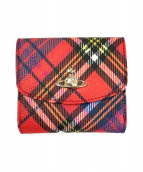 Vivienne Westwood(ヴィヴィアンウエストウッド)の古着「2つ折り財布」 レッド