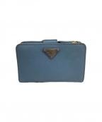 PRADA(プラダ)の古着「2つ折り財布」|スカイブルー
