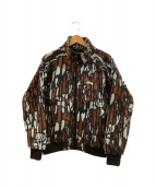 ()の古着「ボアジャケット」|ブラック×ブラウン