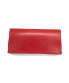 土屋鞄(ツチヤカバン)の古着「ブライドルウォレット」|レッド