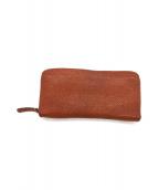 土屋鞄(ツチヤカバン)の古着「ラウンドファスナー長財布」|ブラウン