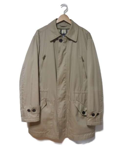 BURBERRY LONDON(バーバリーロンドン)BURBERRY LONDON (バーバリーロンドン) ダウンライナー付ステンカラーコート ベージュ サイズ:LL 冬物 ダウン90%の古着・服飾アイテム