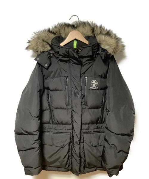 RLX RALPH LAUREN(アールエルエックスラルフローレン)RLX RALPH LAUREN (アールエルエックスラルフローレン) ダウンジャケット ブラック サイズ:- 秋冬物 ダウン75%の古着・服飾アイテム