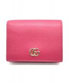 GUCCI(グッチ)の古着「2つ折り財布」|ショッキングピンク