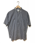 MISTER GENTLE MAN(ミスタージェントルマン)の古着「チェックシャツ」 ネイビー×ホワイト
