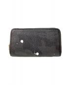 ()の古着「ラウンドファスナー長財布」 ブラック