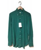 TOMORROW LAND(トゥモローランド)の古着「長袖ポロシャツ」|グリーン