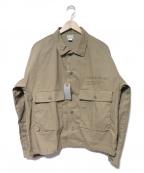 DELUXE(デラックス)の古着「ミリタリージャケット」|ベージュ