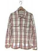 REMI RELIEF(レミレリーフ)の古着「ネルシャツ」|ホワイト