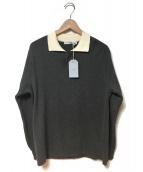 FUJITO(フジト)の古着「ラガーセーター」|チャコール