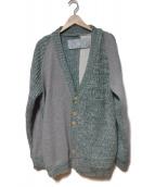 Dulcamara(ドゥルカマラ)の古着「切替カーディガン」|グレー×ブルー