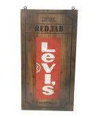 LEVIS(リーバイス)の古着「ウッドサインボード」