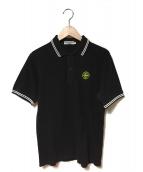 STONE ISLAND(ストーンアイランド)の古着「鹿の子ポロシャツ」|ブラック