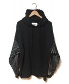 NOMA t.d.(ノーマティーディー)の古着「Stripes Sleeve Parka」|ブラック