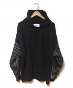 NOMA t.d.(ノーマティーディー)の古着「Stripes Sleeve Parka」 ブラック