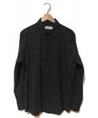 Calvin Klein PLATINUM(カルバン・クライン プラティナム)の古着「ネルシャツ」|グレー