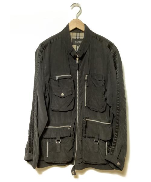 BURBERRY BLACK LABEL(バーバリーブラックレーベル)BURBERRY BLACK LABEL (バーバリーブラックレーベル) ジッパーポケットブルゾン ブラック サイズ:Lの古着・服飾アイテム