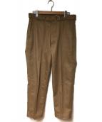 KAPTAIN SUNSHINE(キャプテン サンシャイン)の古着「ベルテッドワークトラウザー」|ベージュ