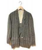 COMME des GARCONS HommePlus(コムデギャルソンオムプリュス)の古着「ダブルテーラードジャケット」|グレー