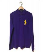 POLO RALPH LAUREN(ポロラルフローレン)の古着「長袖ポロシャツ」|パープル