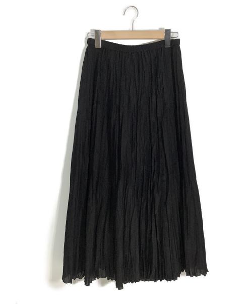 IENA(イエナ)IENA (イエナ) ランダムプリーツロングスカート ブラック サイズ:40 未使用品の古着・服飾アイテム